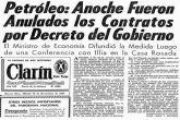 Arturo Illia deroga los contratos petroleros